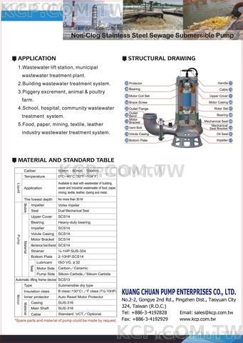KCP - TWP - Sewage and drainage pump