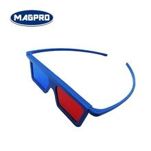 Red Blue Polarized Plastic Frame 3D Glasses