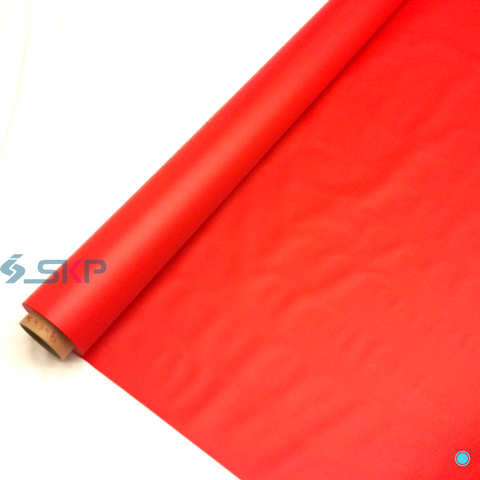 Red Opaque Plastic Sheeting: Embossed PVC Sheet Roll