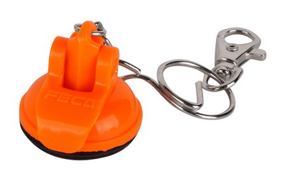 KEY RING W/ZINC HOOK-RED