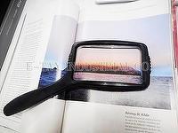 Lupa de lectura rectangular de talla grande