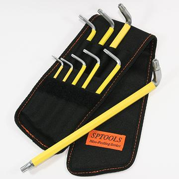 Taiwan 9pcs Extra Long Hex Key Wrench Set Nylon Pouch