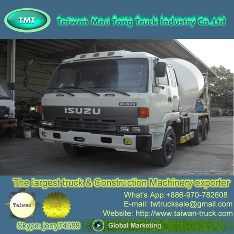 Taiwan Isuzu concrete cement mixer truck for sale [ spare