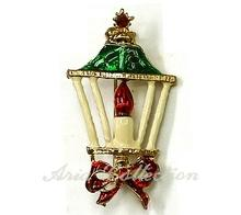 Christmas Lamp Brooch  Enamel Pin Xmas Jewelry