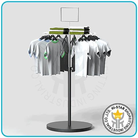 95d8f3802afb Taiwan Clothing hanging round rack metal display panel sign holder ...