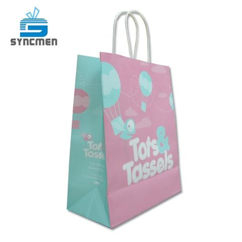 Custom Design Paper Shopping Kraft Paper Bag Manufacturer