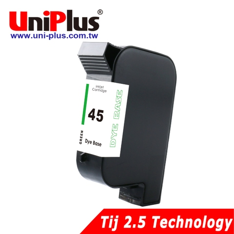 HP45 dye based inkjet cartridge filled green ink  (TIJ 2.5)