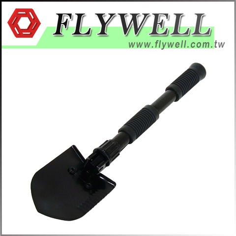 Black Camping Multifunction Mini Folding Shovel