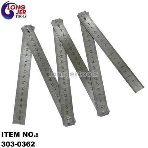 """1M (36"""") STAINLESS STEEL 6 FOLDING RULER"""