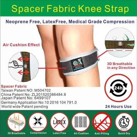 Wrap around 3D Breathable  Spacer Fabric Knee Brace