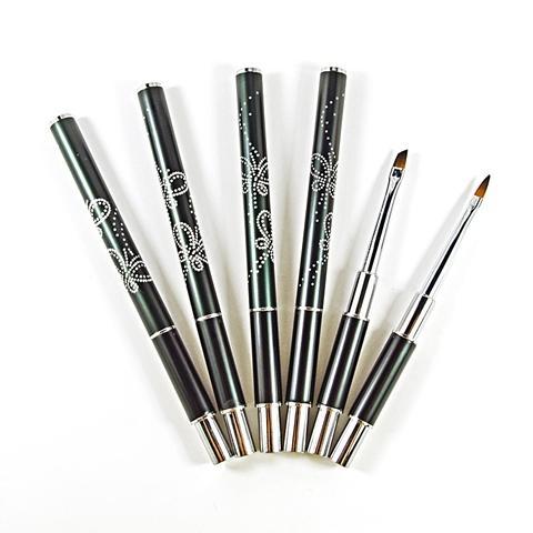 gel nail art brush with nylon hair