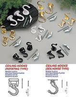 Ceiling Hooks (Rotating Type) / Ceiling Hooks (Sea Horse Type)