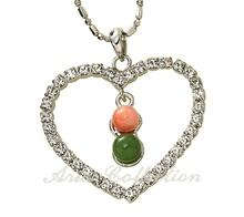 Coral & Jade Fashion Heart Pendant