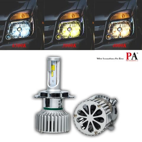 Taiwan Pa 1 Set H4 Hi Lo Car Headlight 60w Switch Tricolor High