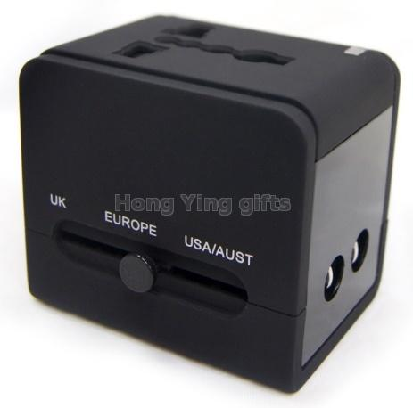 International universal travel adapter with 2 usb charger