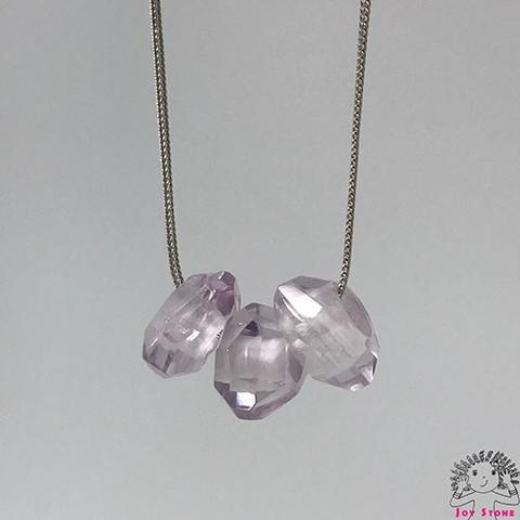 [925 Silver Aamethyst Squash Necklace] 11mm Beads Pendant 4