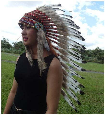 Chief Indian Headdress Feather Headdress American Native Warbonnet Feather Hat L