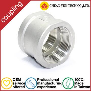 Taiwan high quality oem high pressure SUS304 stainless steel pipe coupling fitting