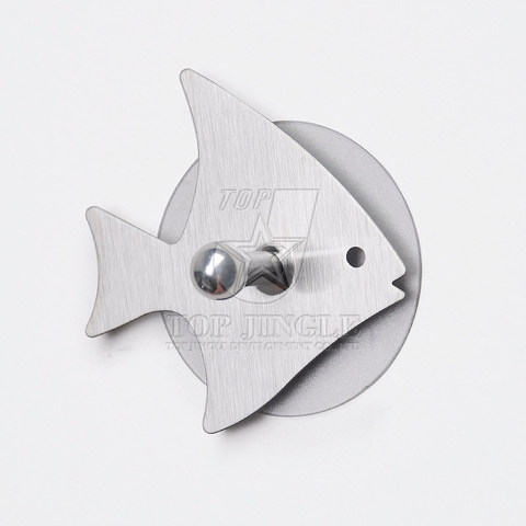 Tropical Fish Shaped Single Hook With Removable Sticker