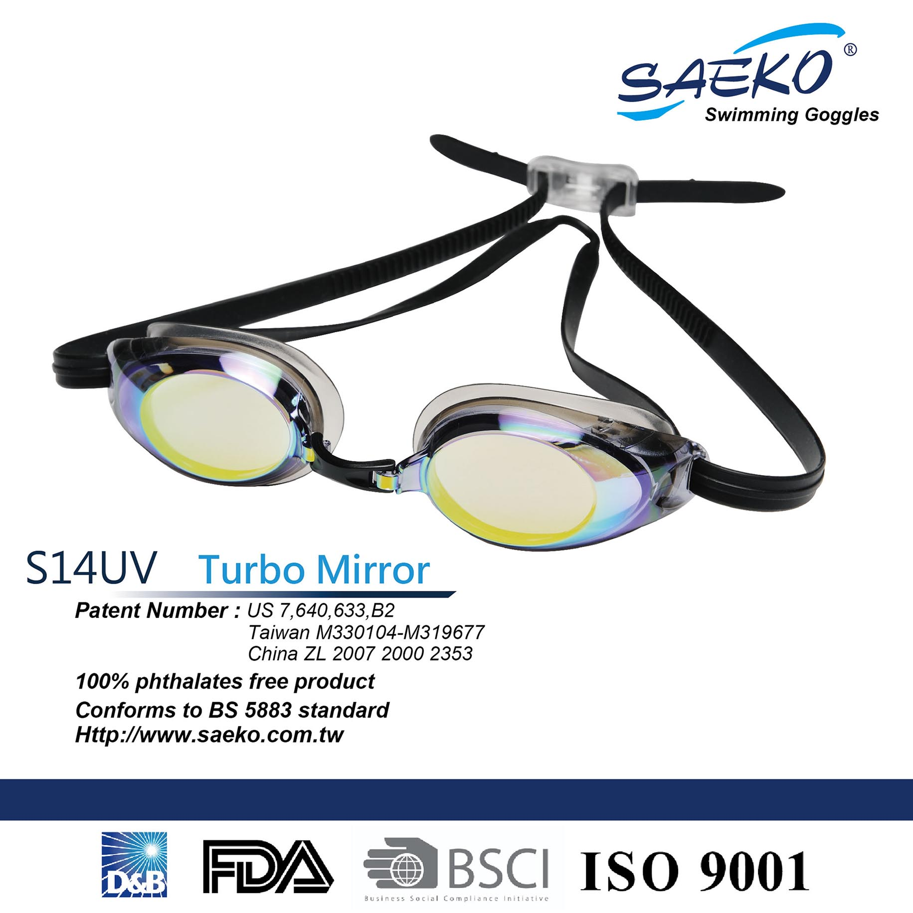 136a0a2fac53 Taiwan Best-selling Racing SWIMMING GOGGLES S14UV Turbo Mirror-Color ...