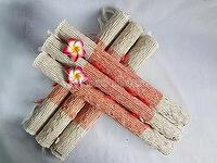 Handmade Woven Table Placemats and Runner,Nature fragrant root with cotton threads
