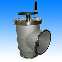Vacuum Angle Valves - ISO Flanges with Bellows-U.S. regulations