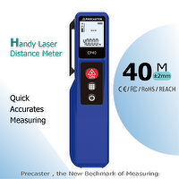 Handheld Laser Distance 40 meter with area,volume,lcd display CP40 with stylus, pen clip design for designer