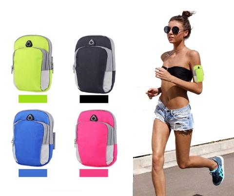 SMARTPHONE ARMBAND RUNNING CASE WITH POUCHES