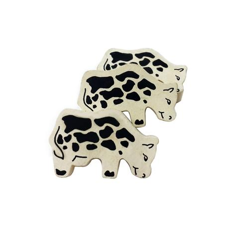Printed Wooden Cow  Family