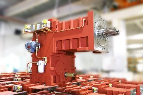 Gearbox for Counter-rotating Conical Twin Screw Extruders
