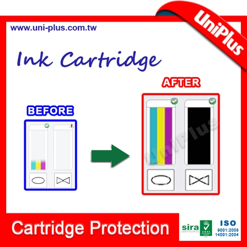Refill ink cartridge united office for hp 662 650 301 122 print cartridge