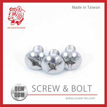 Taiwan M2 Screw DIN 7985 Stainless Steel Black Plated Phillips Pan