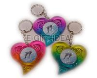 Colorful Heart-shaped Dolphin Photo Frame Key Chain