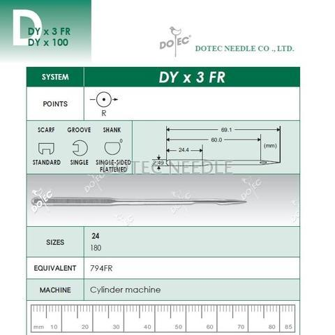 DYX3 FR - Cylinder Machine Needle