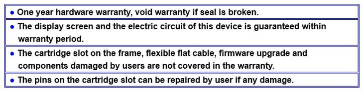 garantia do testador do circuito do cartucho de tinta