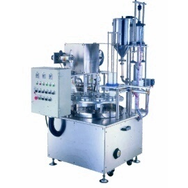 Rotary Type Cup Filling & Sealing Machine