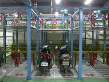 Two-tier parking system Motorcycles