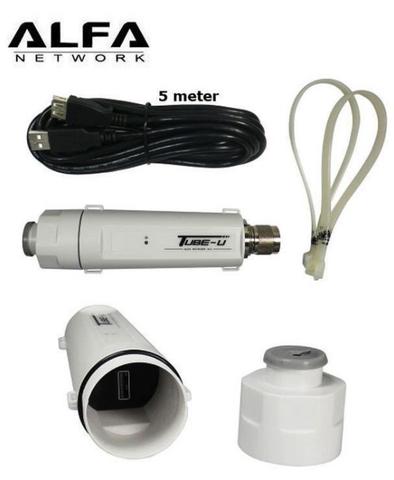 Alfa Tube-U 802.11n outdoor long range USB CPE adapter N-male N