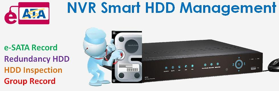 EZ-WATCHING NVR Smart HDD Management