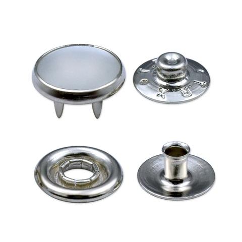 Taiwan 11 5mm shiny brass pearl prong snap fastener   Taiwantrade