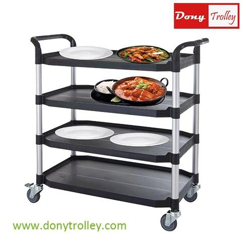 DTL-400 Largest 4 tier plastic food carts