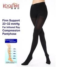 2 Pairs Support Firm 23-32mmHg Far Infrared Compression Pantyhose S-XL Graduated Tights