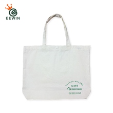Custom Logo White Canvas Tote Bag With Plastic Button Wholesale