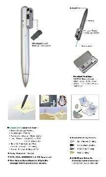 Green Laser Pointer Pen with USB Drive