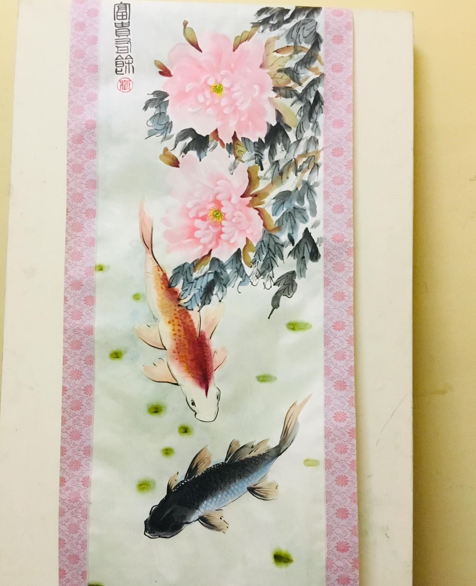 Chinese Traditional Waterfall Landscape Scrolled Painting