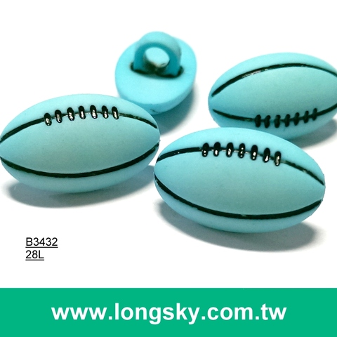 (#B3432) 28l football children's craft, kids clothing button