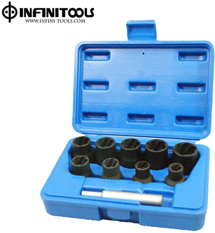 Special Twist Socket Set ,10-piece,1/2