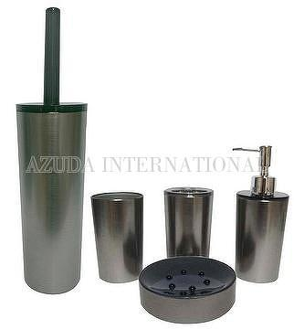 CYLINDER METALLIC BATHROOM SET