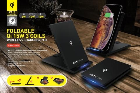 Qi 1 SW 3 Coils Wireless Charging Foldable Pad