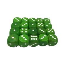 25mm  white dot ,green color round corner wooden dice